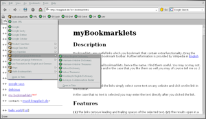 Bookmarklets imported in Firefox
